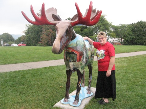 Vermont Moose on Quilting Trip