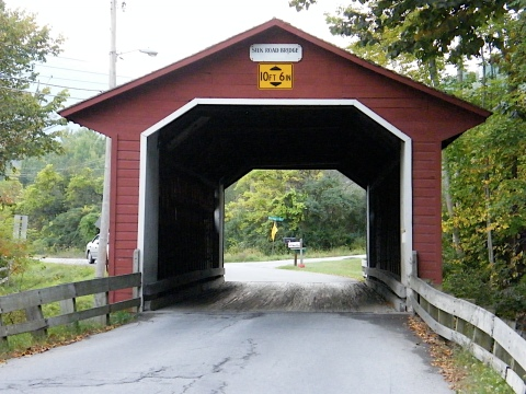 Covered Bridge on our Quilting Trip to Vermont