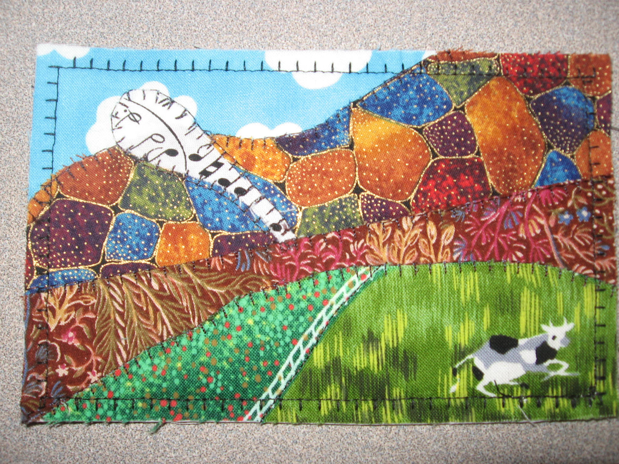 contemporary quilts  the quilter quilting with malke - quilt postcard