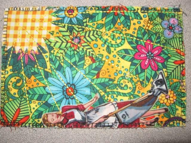 Flower Postcard Quilt